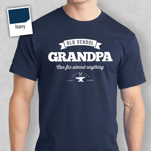Old School Grandpa T-shirt, Personalized Grandpa Gift, Grandpa Birthday Gift, Grandpa Gift, Grandpa Shirt, New Grandpa Gift, Grandpa Tshirt