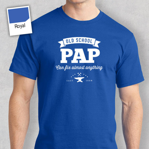 Men's Pap T Shirt Gift – Old School – Navy