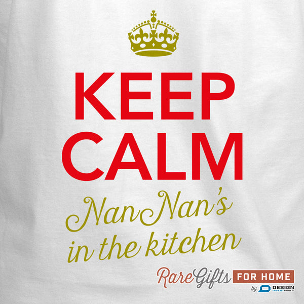 Nan Nan Gift, Birthday Gift For Nan Nan! Funny Apron, Keep Calm, Cooking Gift, Awesome Nan Nan, Personalized, Alternative Nan Nan Shirt