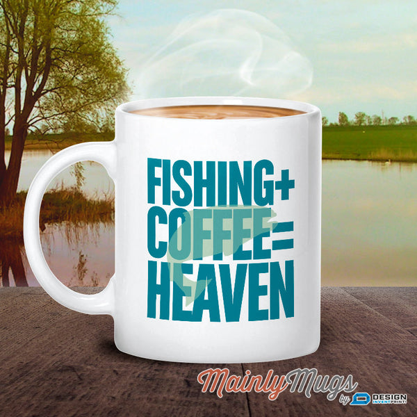 Fishing Gift, Fisherman Gift, Gift For Fisherman, Gone Fishing With Fishing Mug, With Fishing Quote, Fishing, + Coffee = Heaven, Fish Glass