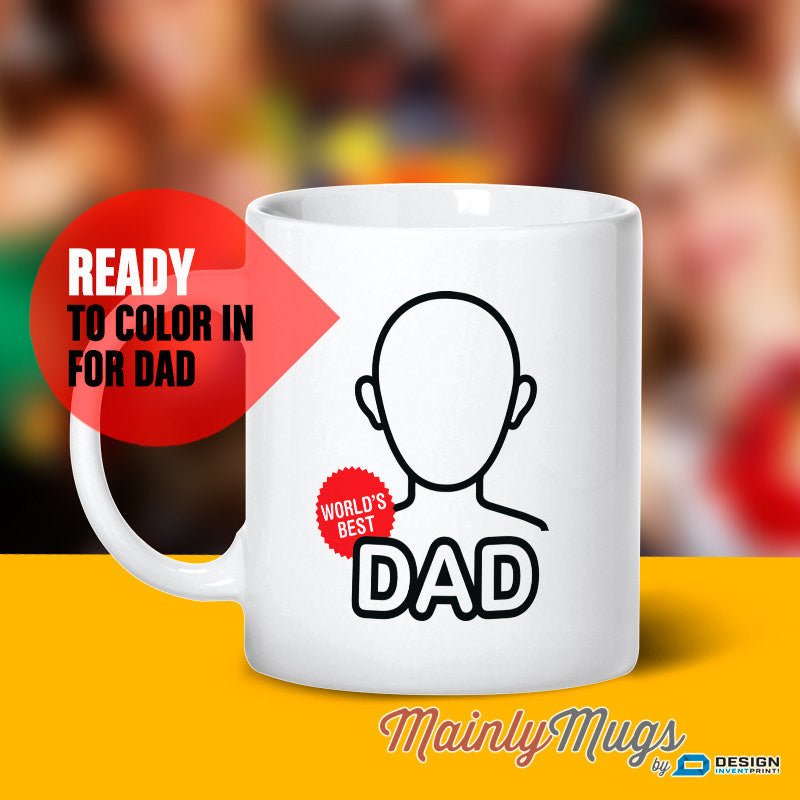 Gift For Dad Father Son Mug Daughter Design Invent Print