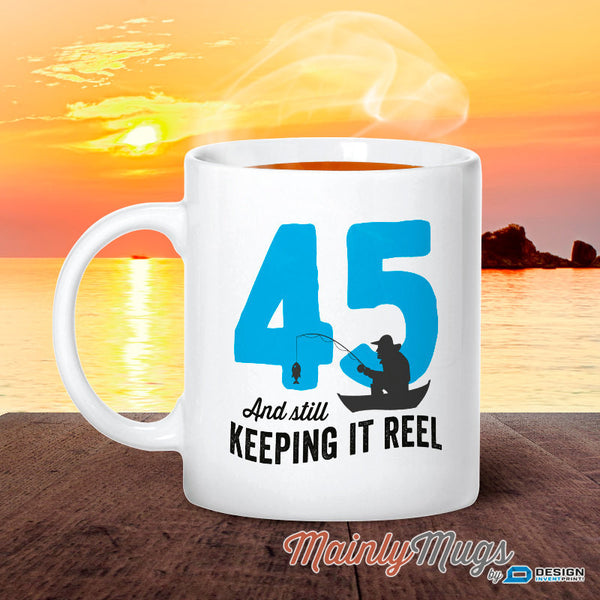 45th Birthday, 1970 Birthday, Fishing Birthday, 45th Birthday Gift, 45th Birthday Idea, Happy Birthday, 45th Birthday Gift for 45 year old
