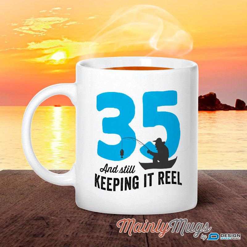 35th Birthday, 1980 Birthday, Fishing Birthday, 35th Birthday Gift, 35th Birthday Idea, Happy Birthday, 35th Birthday Gift for 35 year old