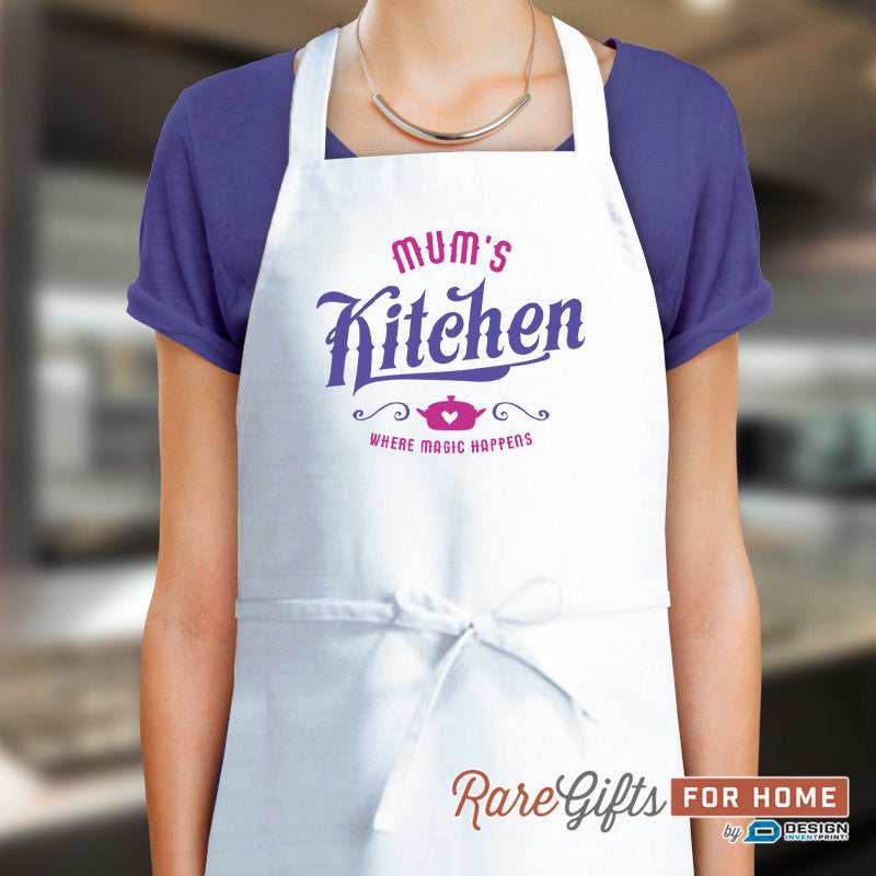 Mum Gift, Birthday Gift For Mum! Funny Apron, Keep Calm, Mums In The Kitchen, Cooking Gift, Awesome Mum, Personalized, Alternative Mum Shirt