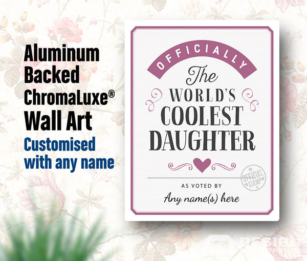 Daughter Gift, For An Awesome Daughter! Birthday Gifts For Daughter! Daughter In Law Gift, Personalized And Delivered Direct To Your Door!