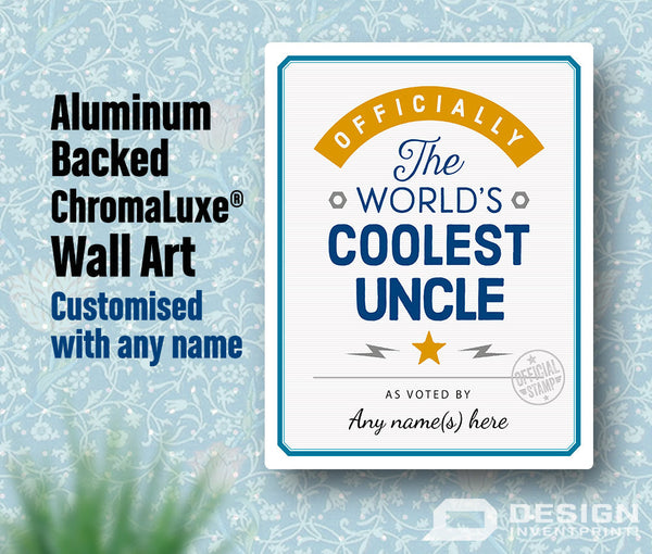 Uncle Gift, Cool Uncle, Personalized Uncle Gift. Birthday Gift For Uncle! Uncle Of The bride, Uncle To Be, Gift Shipped Direct To Your Door!