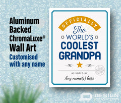 Grandpa Gift, Cool Grandpa, Personalized Grandpa Gift. Birthday Gift For Grandpa! Grandpa Of The bride, Grandpa To Be, Shipped To Your Door!