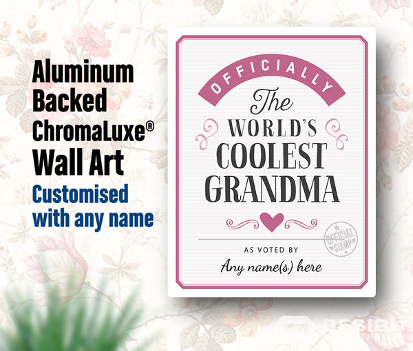 Grandma Gift, For New Grandma! Birthday Gift For Grandma! Grandma To Be,  Grandma Print, Picture Frame, Personalized Delivered To Your Door!