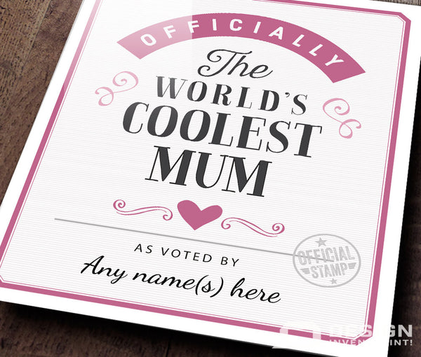 Mum Gift, New Mum, Mum birthday, Mum To Be, Gift for Mother, Mum Print, Mum Wedding Gift, Picture Frame, Personalized And Delivered Direct To Mum's Door!