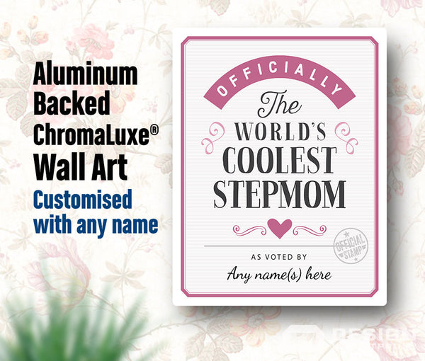 Stepmom Gift, For New Stepmom! Birthday Gift For Stepmom! Stepmom To Be, Stepmom Print, Picture Frame, Personalized, Delivered To Your Door