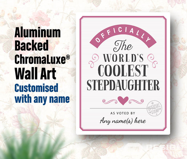 Stepdaughter Gift, For New Stepdaughter! Birthday Gift For Stepdaughter! Stepdaughter To Be, Stepdaughter Print, Picture Frame, Personalized