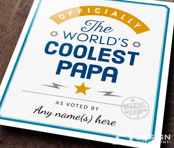 Papa Gift, For New Papa! Birthday Gift For Papa! Papa To Be, Papa Print, Picture Frame, Personalized And Delivered Direct To Your Door!