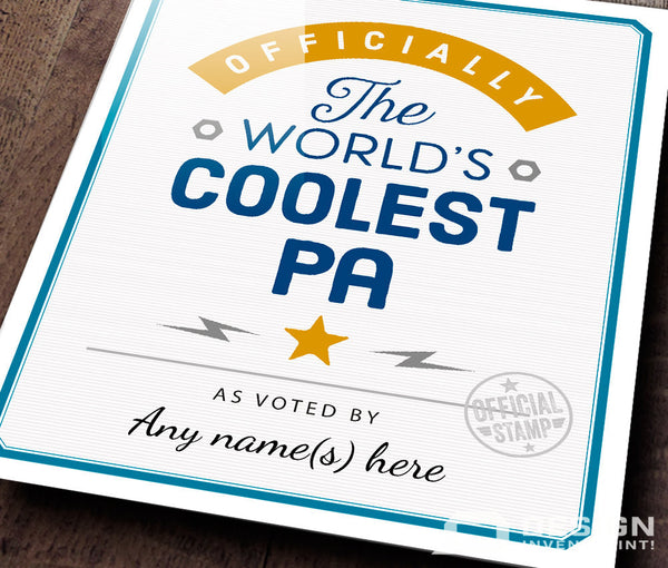 Pa Gift, For New Pa! Birthday Gift For Pa! Gift For Pa, Pa To Be, Pa Print, Picture Frame, Personalized And Delivered Direct To Your Door!