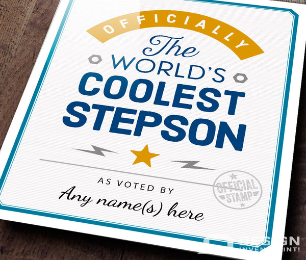 Stepson Gift, For A New Stepson! Birthday Gifts For Stepson! New Stepson Gift, Stepson To Be,  Stepson Picture Frame, Personalized