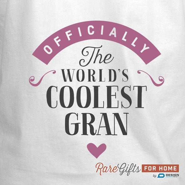 Gran Gift, Birthday Gift For Gran! Funny Apron, Coolest Gran, Cooking Gift, Awesome Gran, Personalized, Present For Gran, Gran Shirt