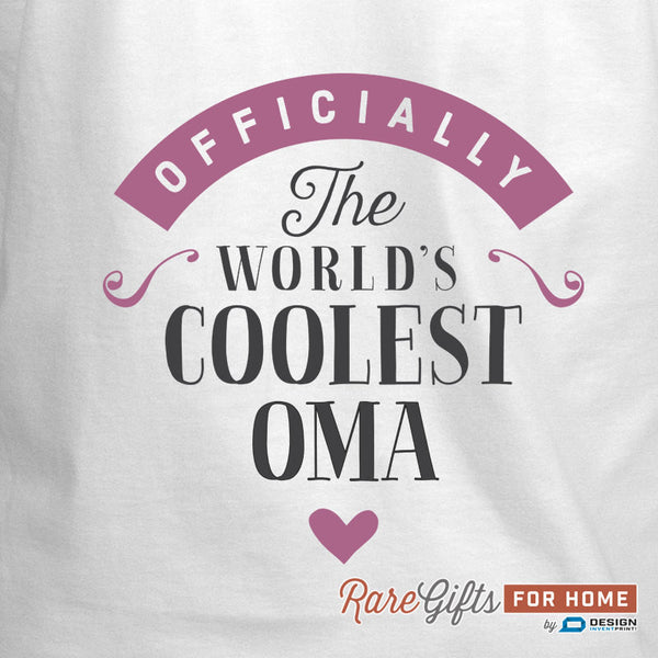 Oma Gift, Birthday Gift For Oma! Funny Apron, Coolest Oma, Cooking Gift, Awesome Oma, Personalized, Present For Oma, Alternative Oma Shirt