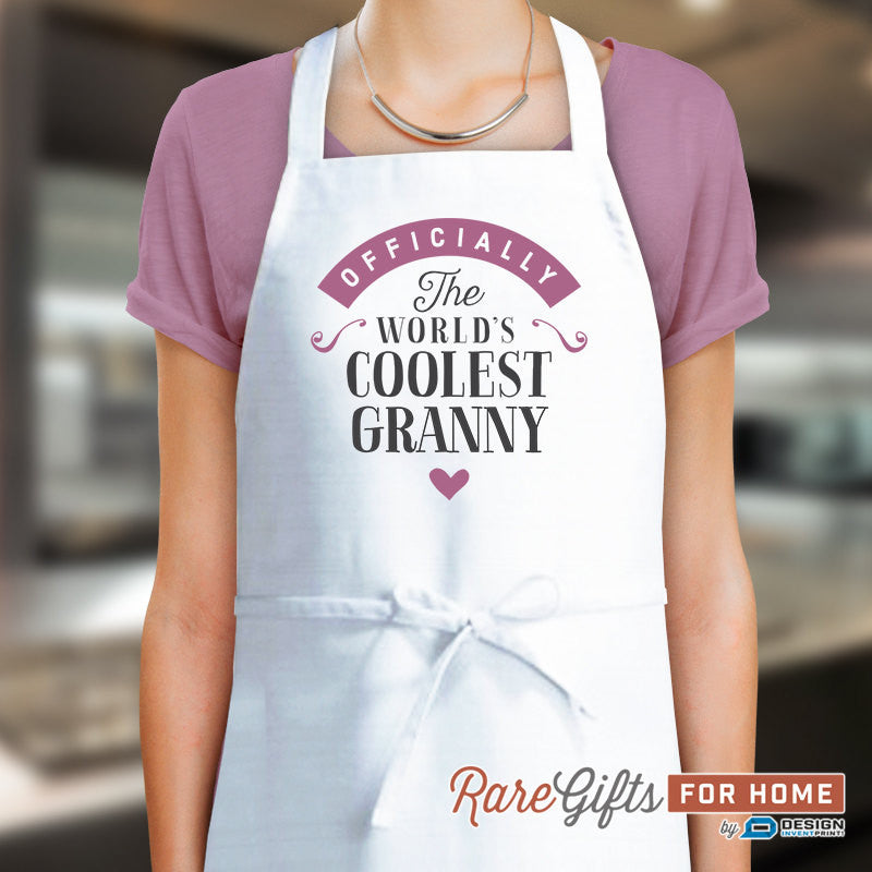 Granny Gift, Birthday Gift For Granny! Funny Apron, Coolest Granny, Cooking Gift, Awesome Granny, Personalized, Alternative Granny Shirt