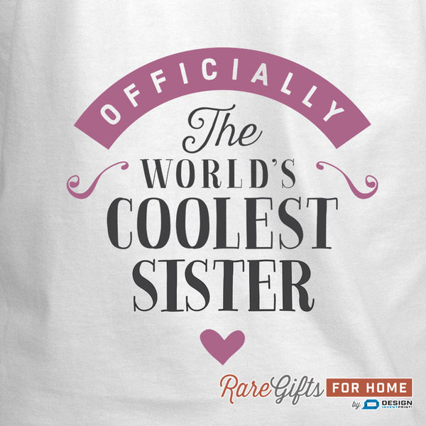 Sister Gift, Birthday Gift For Sister! Funny Apron, Coolest Sister, Cooking Gift, Awesome Sister, Personalized, Present For Sister