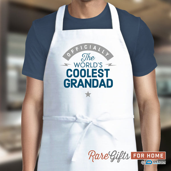 Grandad Gift, Birthday Gift For Grandad! Funny Apron, Coolest Grandad, Cooking Gift, Awesome Grandad, Personalized, Present For Grandad