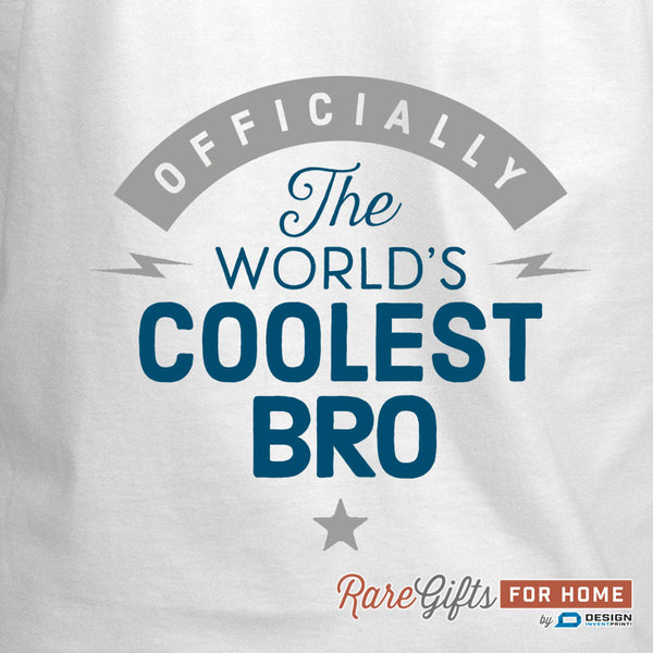 Bro Gift, Birthday Gift For Bro! Funny Apron, Coolest Bro, Cooking Gift, Awesome Bro, Personalized, Present For Bro, Alternative Bro Shirt