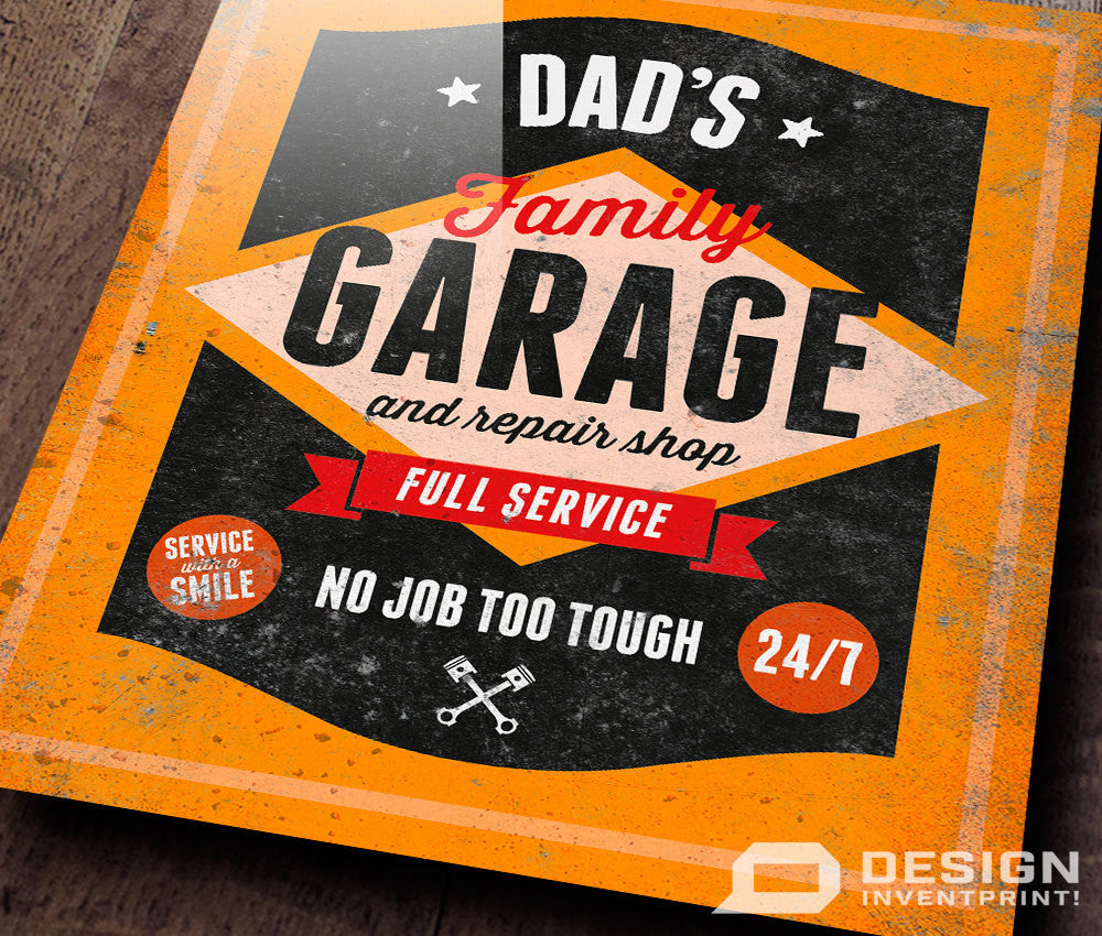 Dad Gift Daddy Birthday For Dads Garage Repair Shop Present