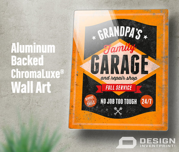 Grandpa Gift, Birthday Gift For Grandpa! Grandpa's Garage & Repair Shop Present, New Grandpa, Grandpa Picture Frame, Grandpa Christmas Gift