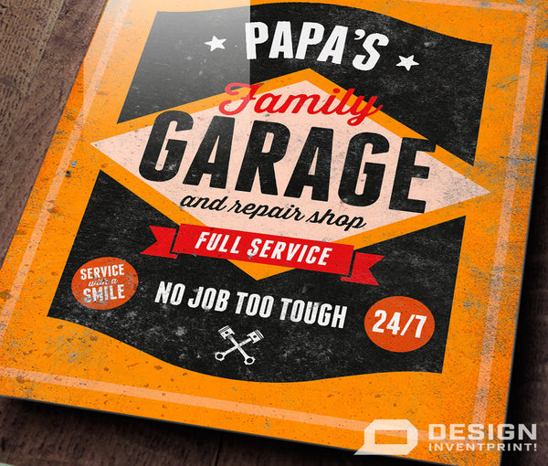 Papa Gift, Birthday Gift For PaPa! PaPa's Personalised Garage Sign, Present, New PaPa Gift, PaPa To Be, Picture Frame, PaPa Christmas Gift
