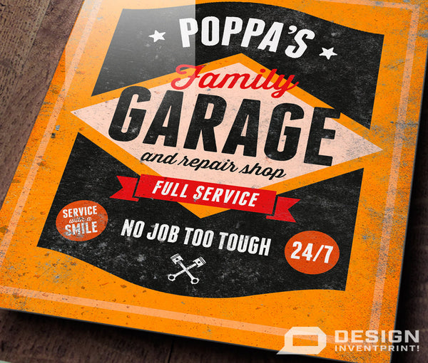 Poppa Gift, Birthday Gift For Poppa! Poppa's Personalized Garage Sign, Present, New Poppa Gift, To Be, Picture Frame, Poppa Christmas Gift