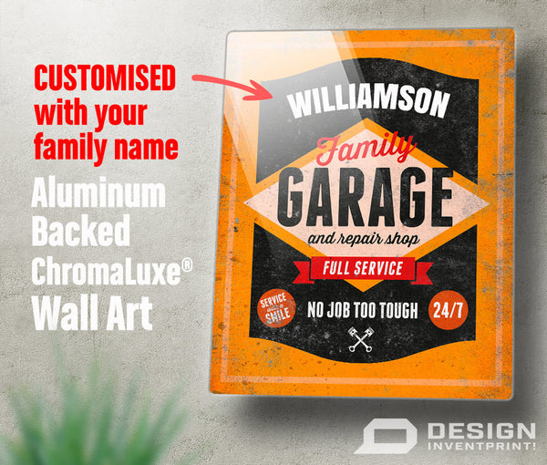 Garage Sign, Custom gift, Custom picture frame, Personalized, Custom present, Custom birthday gift Custom birthday, Custom Garage Sign,