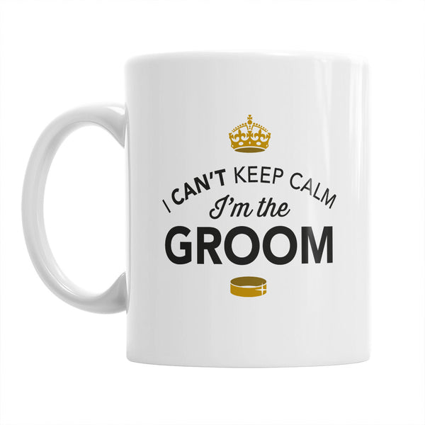 Groom Gift, Groom Mug, Bachelor Party, Groom To be, Alternative Groom Glass, Bachelor Party Gift, Wedding Idea, Keep Calm Groom Mug