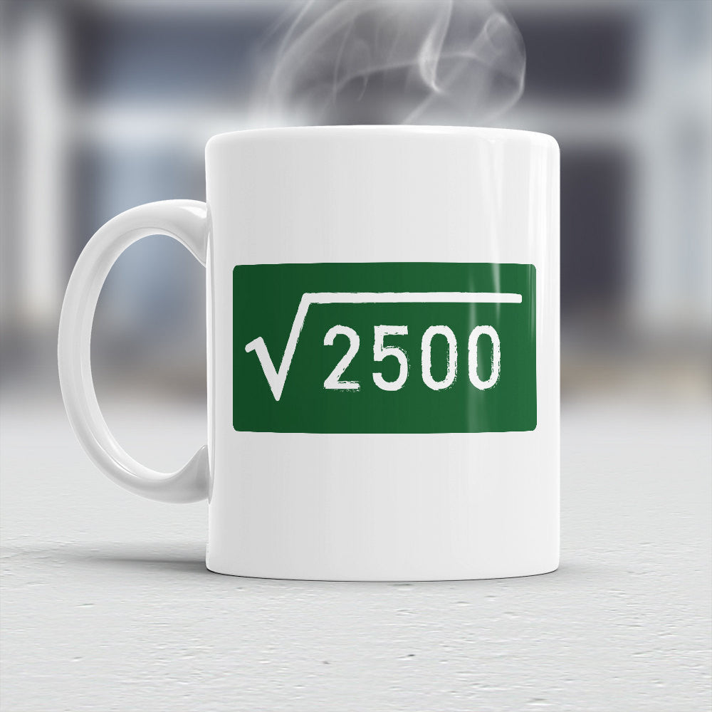 50th Birthday Gift Square Root 2500 Ide Design Invent Print