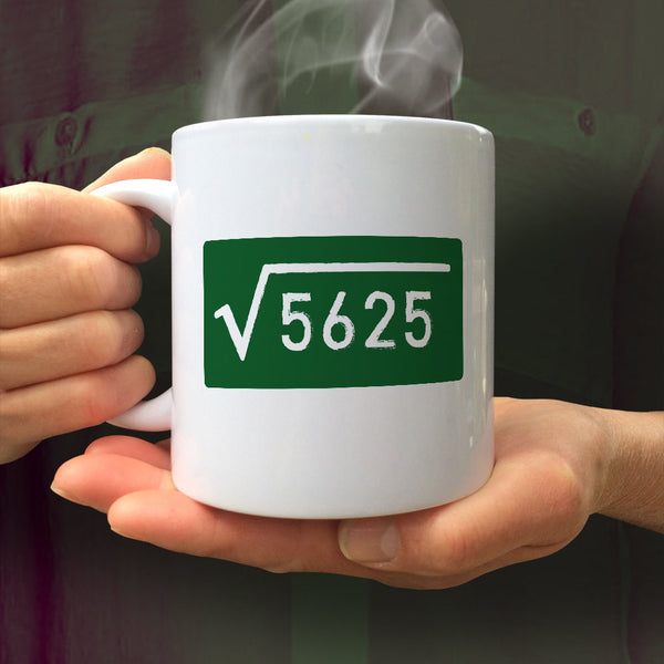 75th Birthday, 75th Birthday Gift, 75th Birthday Idea, Square Root 5625, Happy Birthday, 75th Birthday Gift for 75 year old