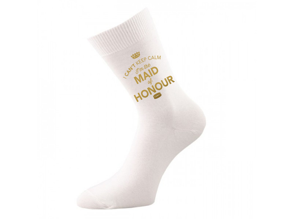 Maid of Honour, Socks, Gifts, Hen Do Gift, Wedding Gift Idea, Maid of Honour of Wedding Present, keepsake, Womens Socks, Size 4-7