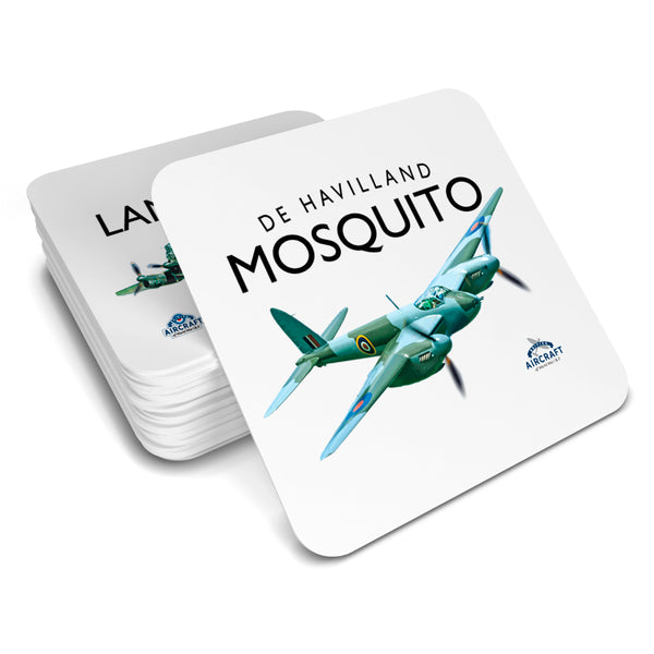 De Havilland Mosquito Drinks Coaster, Illustration, Detailed Vintage Mosquito Gift, Unique and Original WWII Gift