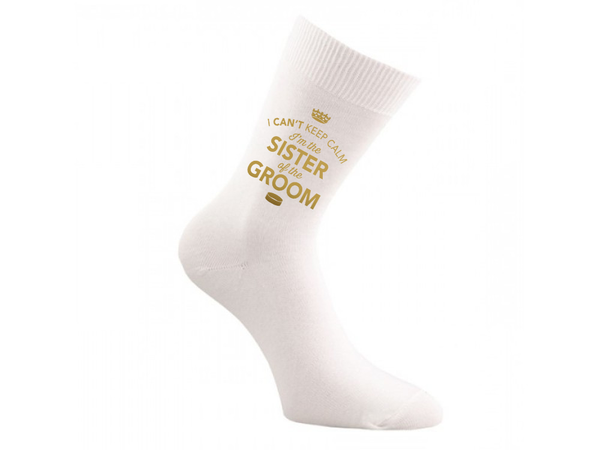 Sister of the Groom, Sister of the Groom Socks, Sister of the Groom, Sister of the Groom, Sister of the Groom Gifts, Hen Do Gift, Wedding Gift Idea, Sister of the Groom Wedding Present, Wedding keepsake, Wedding Socks, Womens Socks, Size 4-7