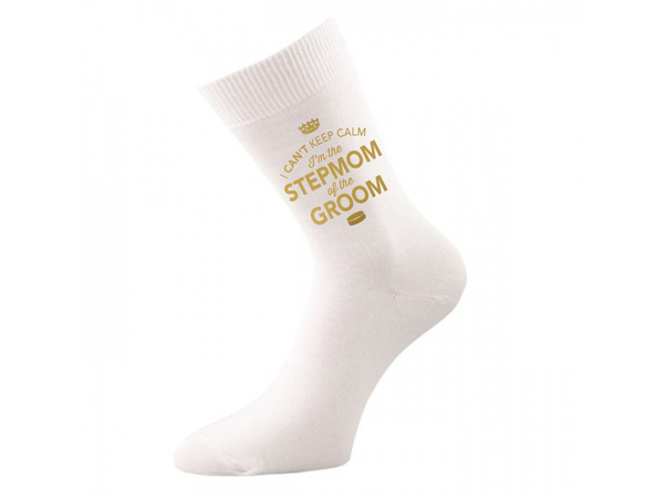 StepMom of Groom, StepMom of Groom Socks, StepMom of Groom, StepMom of Groom, StepMom of Groom Gifts, Hen Do Gift, Wedding Gift Idea, StepMom of Groom of Wedding Present, Wedding keepsake, Wedding Socks, Womens Socks, Size 4-7