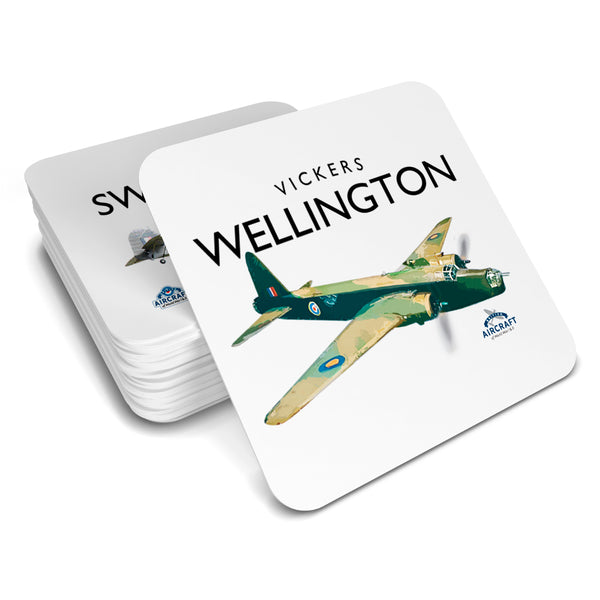 Vickers Wellington, Gift, Drinks Coaster, WWII Aircraft Gift For Collectors, Men and Women