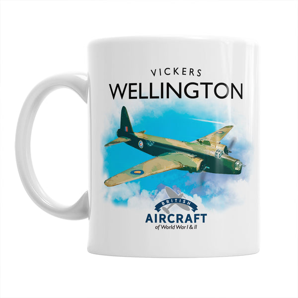 Vickers Wellington Flying Legend, Mug, WWII Aircraft Gift For Collectors, Men and Women