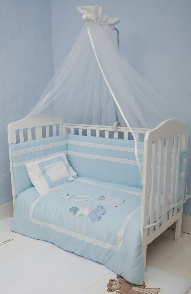 Blue Animals Bedding Set