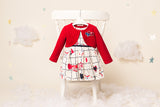 Noelle - Love Dress with Red Bolero - Sold as pack of 4