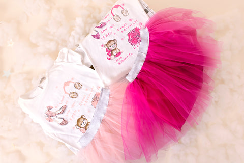 Molly - Girls party dress - Princess Tutu & Cotton T-shirt