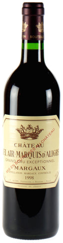 Chateau Bel Air Marquis d'Aligre, Margaux, 1995