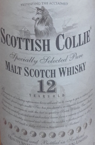 Whisky Scottish Collie, 12 ans Pur Malt, Scotland, 70cl