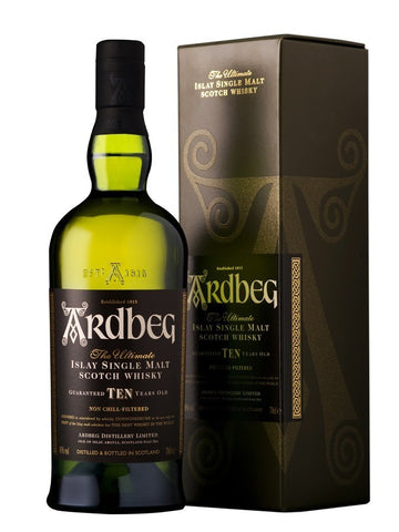 Whisky Ardbeg 10 years old, 46°, 70cl Islay, Ecosse