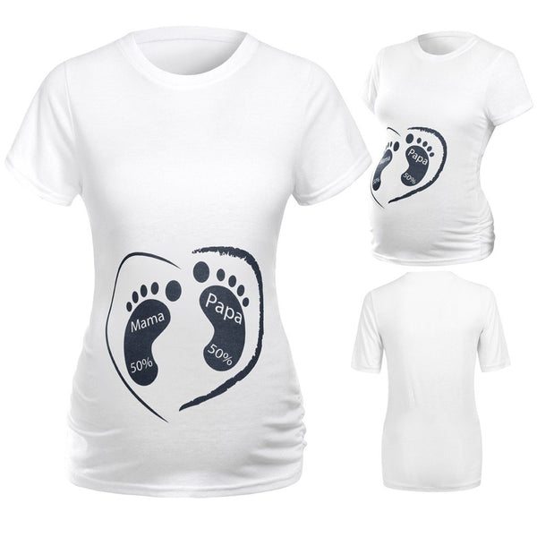 Cute Mama And Papa Maternity Tee/T-shirt - MOMZJOY.COM