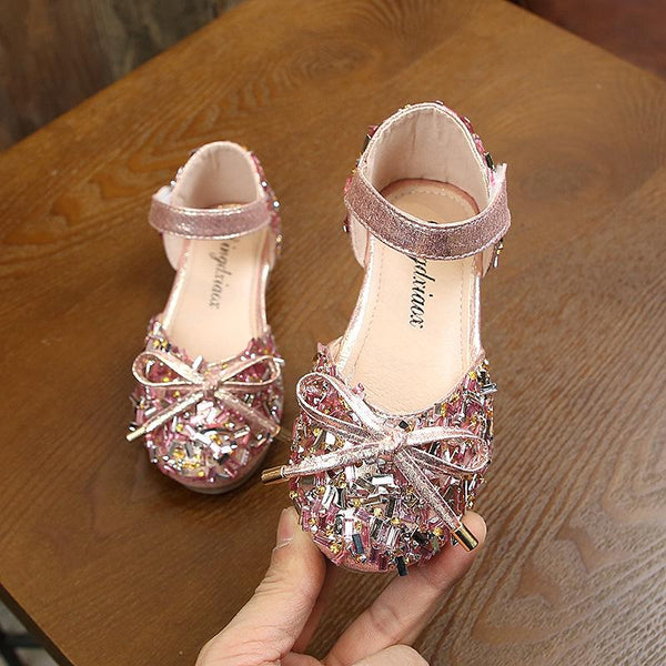 Rose Pink Studded Ballerinas (2.5-5 Yrs)