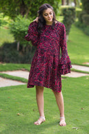 Raspberry Maze Maternity & Nursing Kurta Dress - MOMZJOY.COM