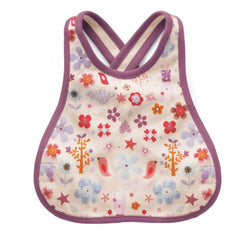 Cotton Tweet Baby Drool Bib Cross Stitch Back - MOMZJOY.COM