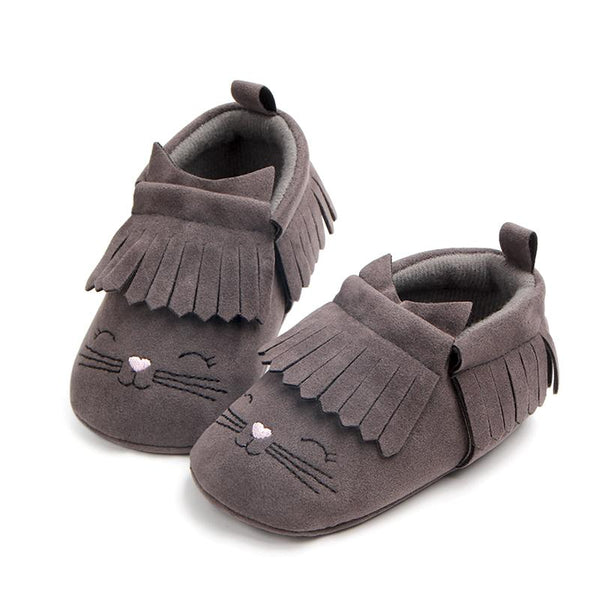 Frilled Grey Shoes (0-1 Year)