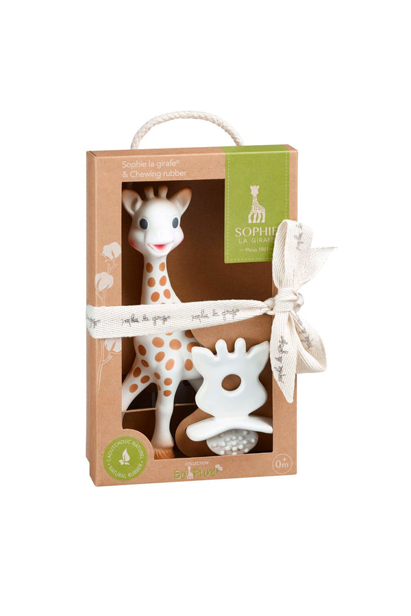 Sophie La Girafe & Chewing Rubber Teether  (100% Natural Rubber) - MOMZJOY.COM